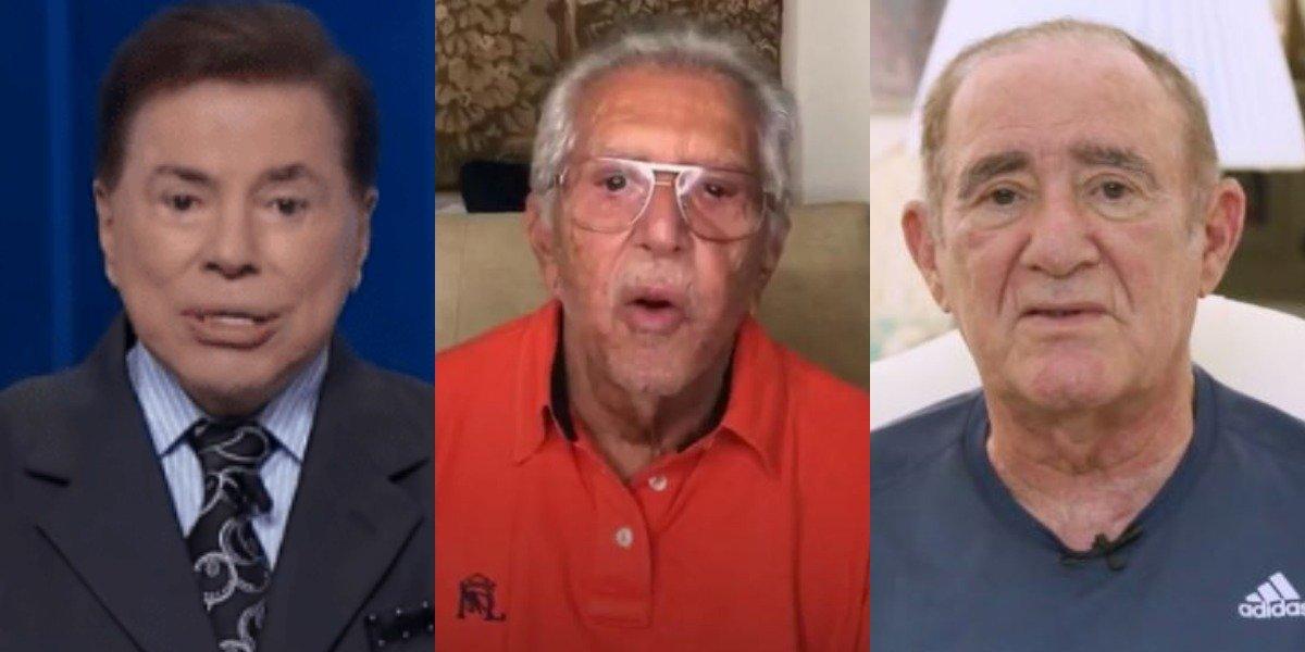Silvio Santos, Carlos Alberto e Renato Aragão (Foto: Reprodução)