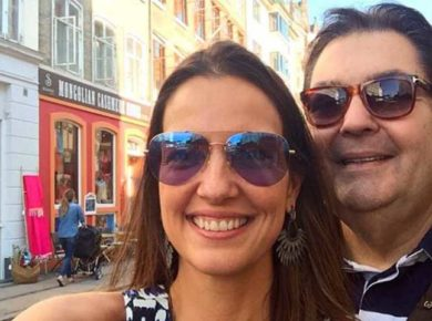 Luciana Cardoso e Faustão (Foto: Reprodução)