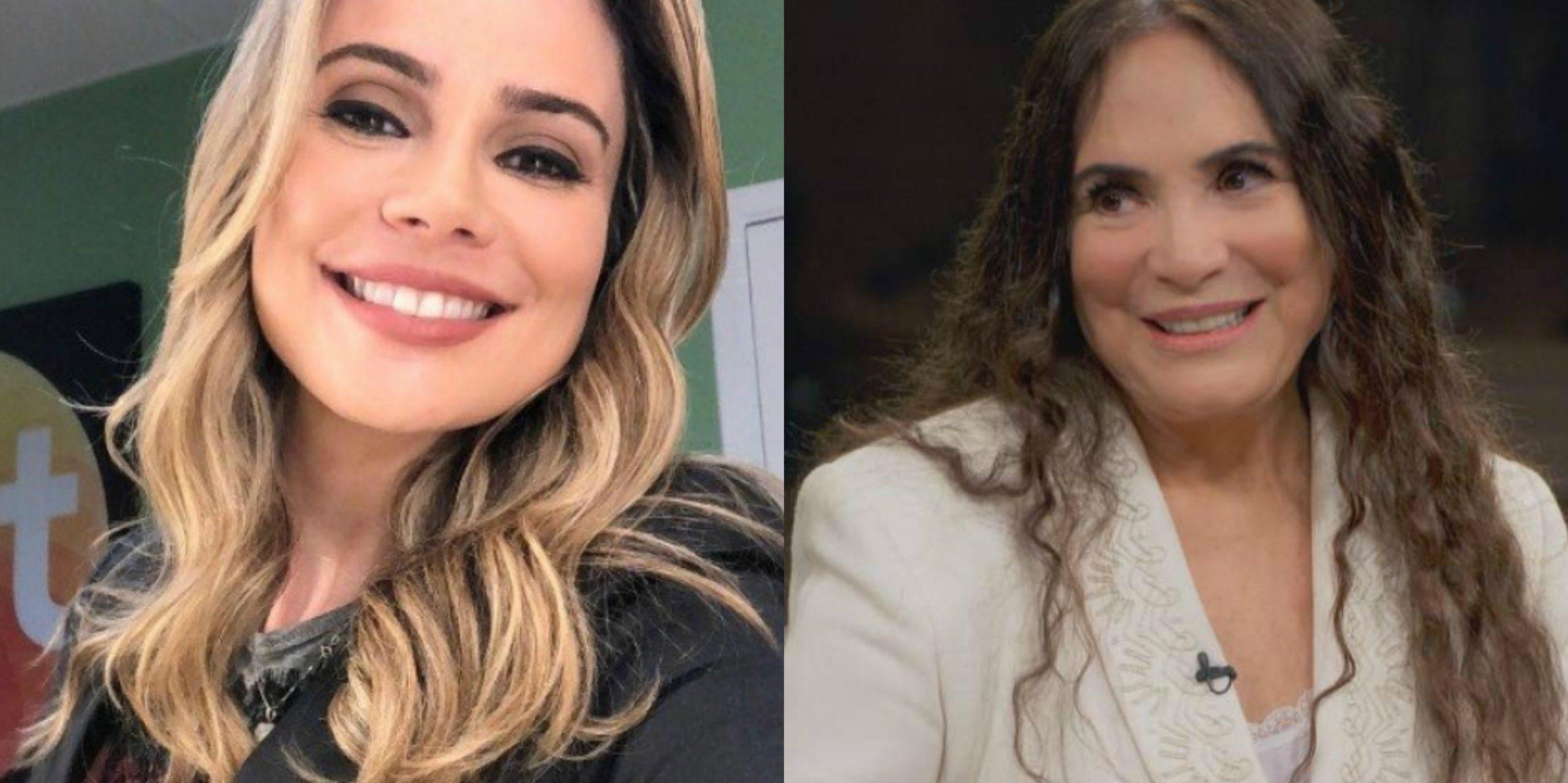 Rachel Sheherazade e Regina Duarte (Foto: Reprodução / SBT e Globo)